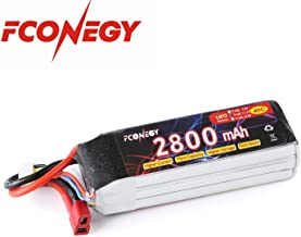 Fconegy 3S 11.1V 2800mAh 40C Lipo Battery Pack with Deans Plug for FPV/Drone/Quadcopter/Rc Airplane