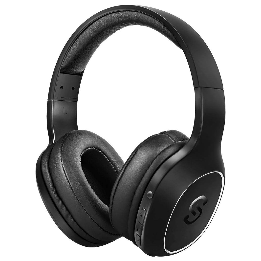 逃れるマンハッタンシェフSoundPEATS(サウンドピーツ) Bluetooth ヘッドホン A2 密閉型 低音強化 EQ機能 40mm径大型ドライバー 高音質 ワイヤレス ヘッドホン 20時間連続再生 ワイヤレス&有線両用 マイク付き ブルートゥース ステレオヘッドフォン ブラック