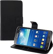 kwmobile Funda para Samsung Galaxy Grand 2 G7105 - Carcasa de Cuero sintético - Case con Tapa y Tarjetero en Negro