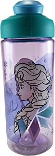 Zak Designs BPA Free 16.5 oz Boys & Girls Licensed Character Cold Water Bottles -Carry Loop & Snap Lid (frozen)