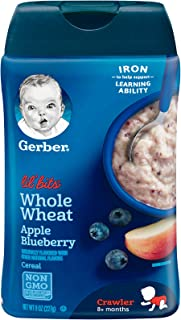 Gerber Lil' Bits Whole Wheat Apple Blueberry Cereal, 227g