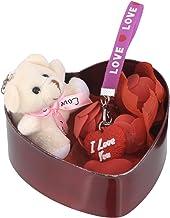 SHOPERIYA® Valentine Beautiful Romantic Unique Gifts With Heart shape I Love You Key-Chain & Cute Teddy bear Gift Box-Valentine Day Gift for Girlfriend Boyfriend Husband, Wife Fiancee-Friends-Girl-Anniversary-Birthday Gift For Lover