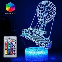 Batttlebus 3D optische illusie lamp uniek nachtlampje kunstwerk licht 16 kleuren veranderende led slaaplicht voor wooncult...