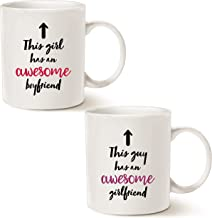 MAUAG Valentine's Day Gifts Funny Couples Coffee Mug Set, This Guy/Girl Has an Awesome Girlfriend/Boyfriend Best Valentine...