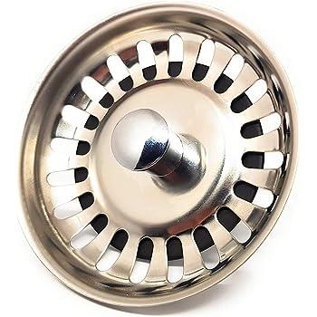 con di/ámetro de 80 mm ideal como pieza de repuesto para fregadero de cocina Blanco Juego de 2 coladores para fregadero colador universal de acero inoxidable