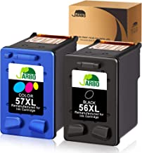 JARBO Manufactured Ink Cartridge for HP 56 57 56XL 57XL, 1 Black+1 Tri-Color, Used with HP Deskjet 5150 5550 5650 5850 Photosmart 7260 7350 7450 7550 7660 7760 7960 Officejet 4215 PSC 1210 Printer