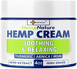 Natural Hemp Cream - Fast Relief - Muscle, Joint, Foot & Back with Hemp, Arnica, Turmeric | Natural Hemp Oil Extract Gel -...