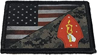 USMC 2nd Marine Division USA Flag Morale Patch Tactical Military. 2x3