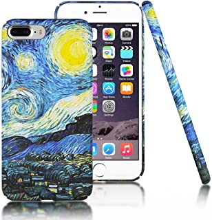 Clouds Compatible iPhone 7 Plus Case/iPhone 8 Plus Case [Famous Paiting Series] Smooth Premium Durable Hard PC Funny 3D Flowing Oil Painting case-The Starry Night Van Gogh for iPhone