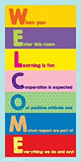 Culturenik Welcome Inspirational Motivational Teaching Quote Saying Classroom Print (Unframed 12x24 Poster)