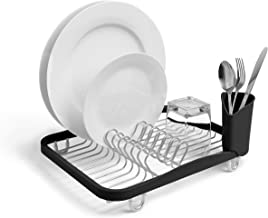 Umbra 330065-744 Sinkin Drying Rack – Dish Drainer Caddy with Removable Cutlery Holder Fits in Sink or on Counter top, Med...