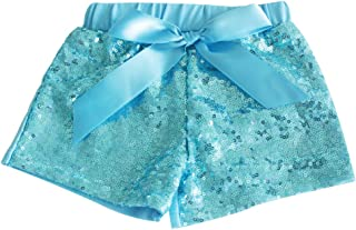 Messy Code Baby Girls Shorts Toddlers Short Sequin Pants with Bow