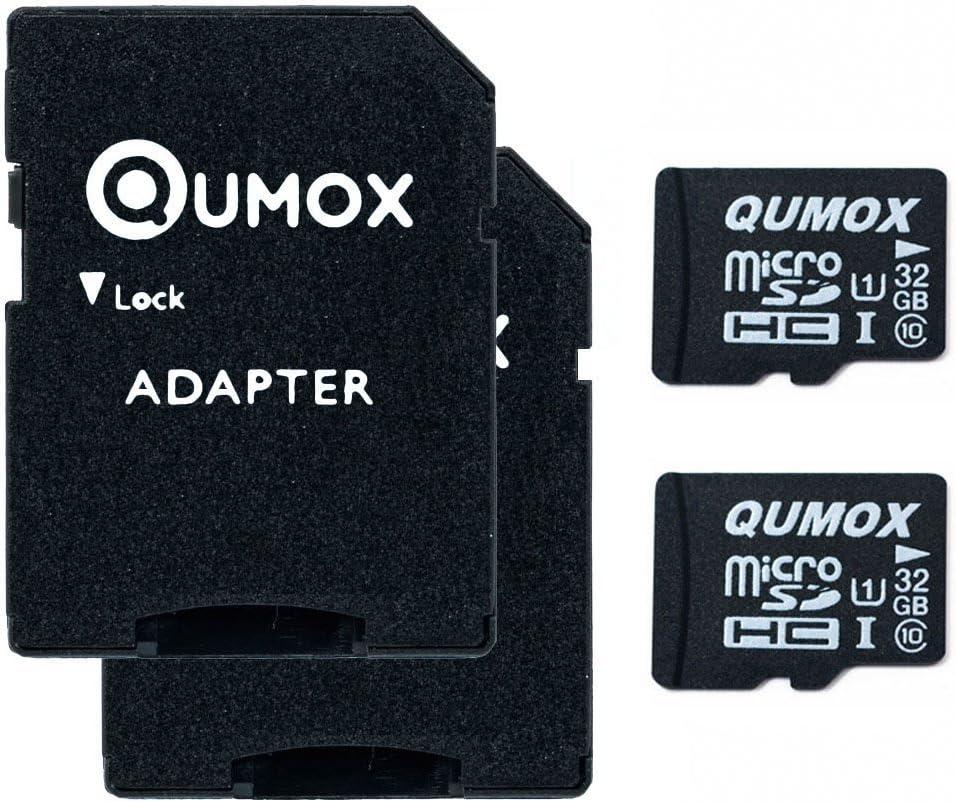 QUMOX 2X 32GB Micro SD Memory Card Class 10 UHS-I 32 GB HighSpeed Write Speed 15MB/S Read Speed Upto 70MB/S