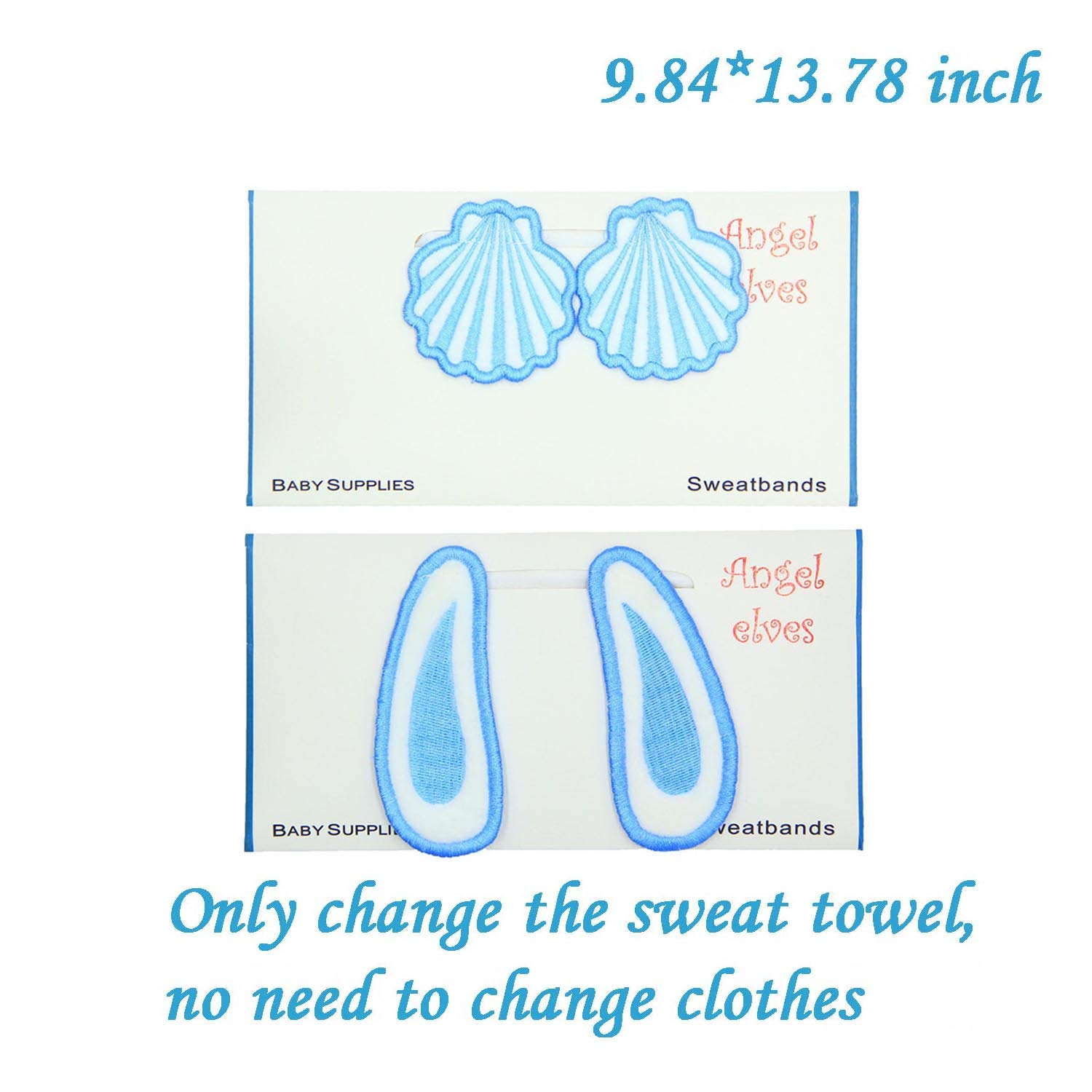 Baby Cotton Yarn Sweat Absorber Towel,Reusable Wipes Children Mattress Back Towel,Gauze Sweat Isolator Washcloths,Ultra Soft Super Absorbency Quick Dry,Cute Cartoon Design for Kids Infant Toddler