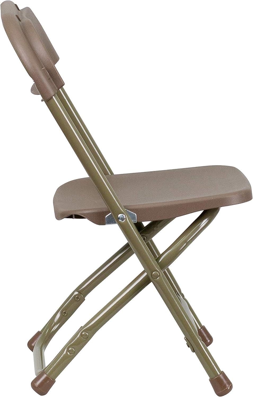OLIVER 2 Pack Kids Black Plastic Folding Chair EMMA