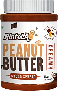 Chocolate Roasted Peanut Butter, Spread (Creamy) 1kg (35.27 OZ) By Pintola