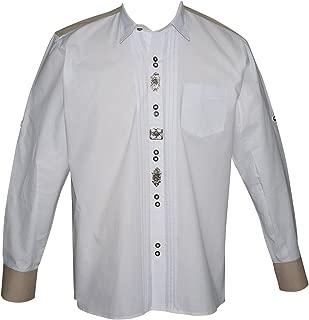 Dirndl Trachten Haus German White Lederhosen Button Down Dress Shirt