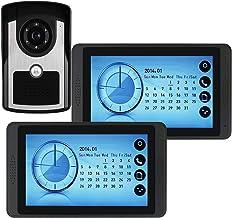 Videodeurbel, Intercom, Deurinvoersysteem, Bekabelde 7-Inch Touchscreenmonitor Videodeurtelefoon, IR-Nachtzichtcamera Voor...
