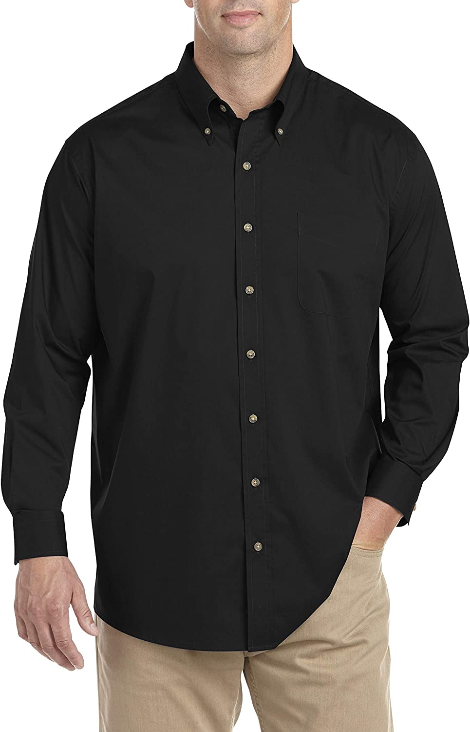 Harbor Bay by DXL Big and Tall Easy-Care Solid Sport