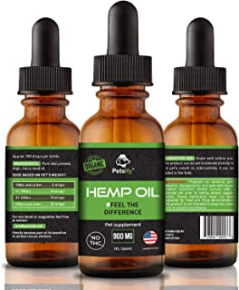 Sponsored Ad - Petsify Organic Hemp Oil for Dogs & Cats - 900mg - Supports Hip and Joint Health, Natural Arthritis Pain re...