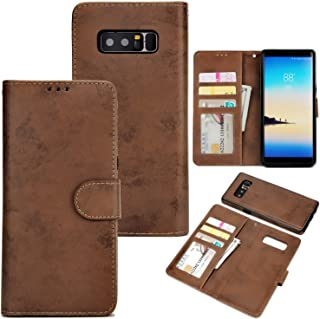 Protective Case Compatible with Samsung Luxury Pattern PU Leather + Soft TPU Card Slots with Stand and Magnetic Buckle Wallet Case Compatible smasung Note 8 Phone case
