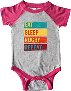 inktastic Rugby Player Eat Sleep Rugby Repeat Infant Creeper
