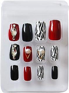 AyA Fashion Self adhesive/Pre-Glued Professional Quality Pre Designed False Nails   French Long Artificial Fake Nail   Set...