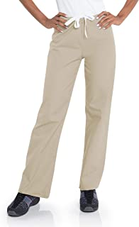 Landau Urbane Essentials 9502 Women's Relaxed Drawstring Scrub Pant Sandstone XXS