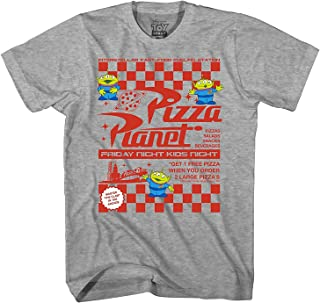 Toy Story Pizza Planet Flyer Men's Adult Graphic Tee T-Shirt