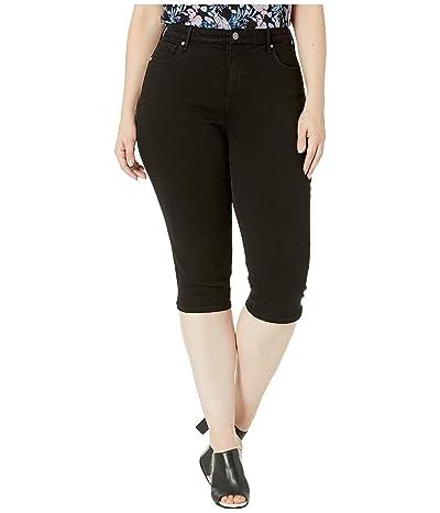 NYDJ Plus Size Plus Size Skinny Capris in Black (Black) Women