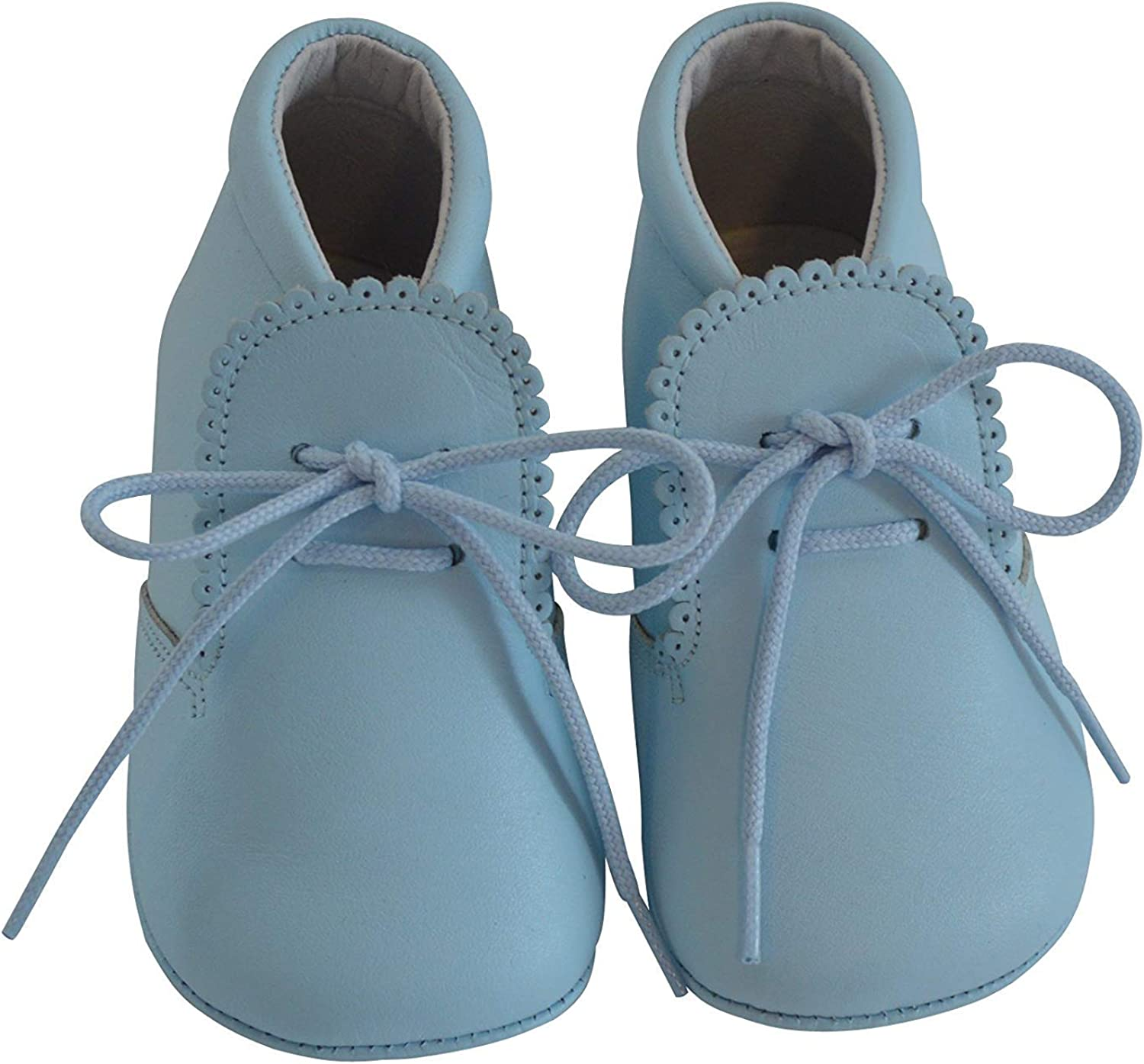 Baby Boys Leather Soft Sole Shoes w/Laces - Leather