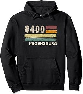 Alte Postleitzahl Geschenk Designs 8400 Regensburg Retro Postleitzahlen Alte PLZ Vintage Pullover Hoodie