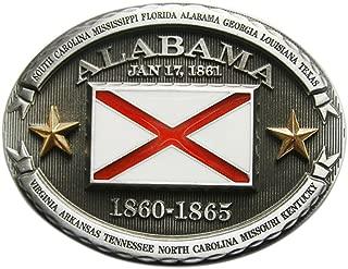 New Vintage Oval Alabama Flag Belt Buckle also Stock in US