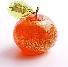Murano Glass Blown Orange, Glass Hand Made in Italy