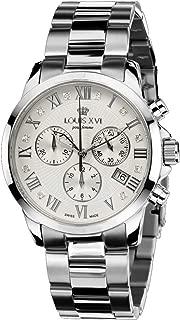 Louis XVI Women's-Watch Athos Pour Femme l'acier l'argent Diamant Swiss Made Chronograph Analog Quartz Stainless Steel Silver 516