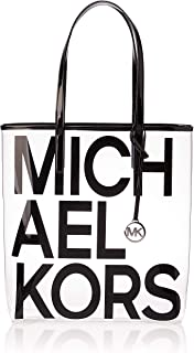 Michael Kors Tote Bag for Women- Clear/Black