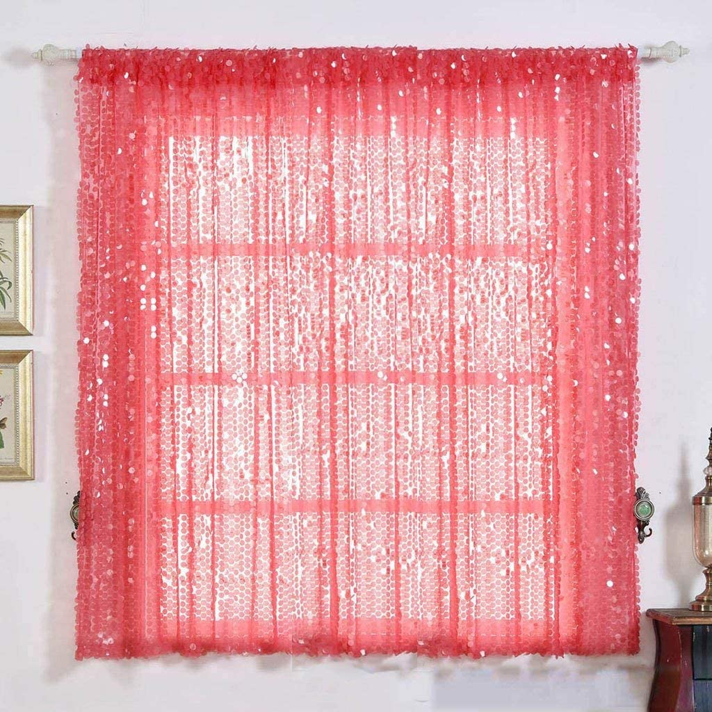 Efavormart 2 Panels Coral Big Sequin Recommended Payette Max 73% OFF Wind Darkening Room