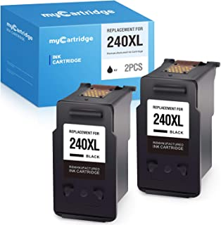 MYCARTRIDGE Remanufactured Ink Cartridge Replacement for Canon 240XL PG-240XL 240 PG-240 Use with PIXMA MG3620 MG3520 MG3222 MG3120 MG3220 MX472 MX452 MX432 TS2150 Black, 2 Pack