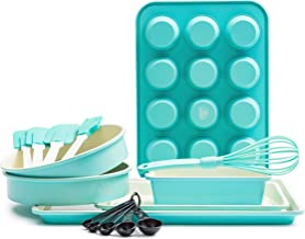 GreenLife CC002429-001 Bakeware Ceramic Baking Set, 12pc, Turquoise