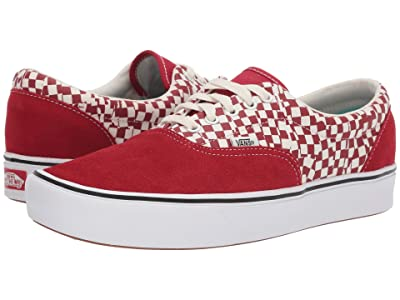 Vans ComfyCush Era ((Tear Check) Racing Red/True White) Athletic Shoes