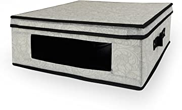 DII Jumbo Closet Storage Bin for Linens, Clothing, Crafts, Photos, Collectibles, Holiday Décor or Knick Knacks - Damask