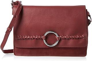 منت اند بيري حقيبة بتصميم قابل للطي للنساء - خمري