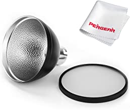Godox AD-S2 Standard Reflector with Soft Diffuser for Godox AD200 Pro Godox AD200PRO Godox AD200 AD180 AD360 AD360II Flashes and PERGEAR Cleaning Cloth
