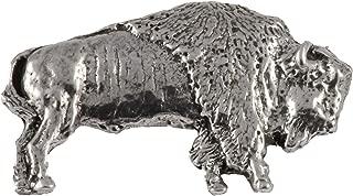 Bison Buffalo Full Body Mammal Pewter Lapel Pin, Brooch, Jewelry, M029