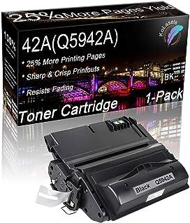 خرطوشة حبر متوافقة من كولاسل (لون أسود، علبة واحدة) استبدال للون HP 42A Q5942A للاستخدام مع طابعة Laserjet 4200/4240/ 4250...