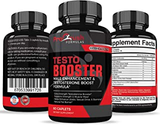Testosterone Booster Supplement- Maximum Strength, Boosts Natural Stamina, Energy, Endurance. Increases Muscle Strength & Fat Burning.