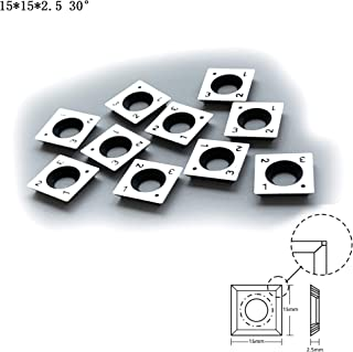 FomaSP 15mm Square Carbide Cutter Inserts (15mmX15mm X2.5mm) for Woodturning Roughing Tool,10pcs