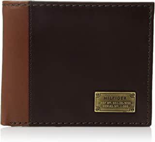 Men's Leather Passcase Wallet with Removable Card Holder