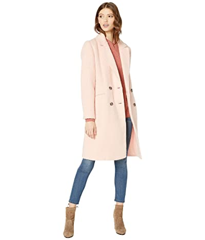 Cupcakes and Cashmere Effie Double Breasted Brushed Wool Coat (Cupcake Pink) Women
