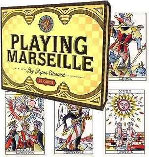 タロットカード 78枚 マルセイユ版 タロット占い 【プレイング マルセイユ Playing Marseille 】日本語解説書付き [正規品]
